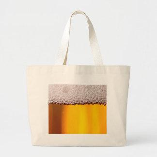 Bier-Nahaufnahme-Getränk-Party-Gelb-Muster Jumbo Stoffbeutel