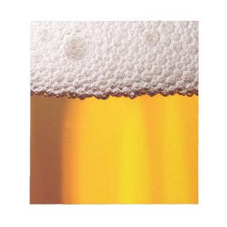 Bier-Nahaufnahme-Getränk-Party-Gelb-Muster Notizblock
