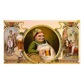 Bier nationales Getränk Vintage Retro Visitenkarten