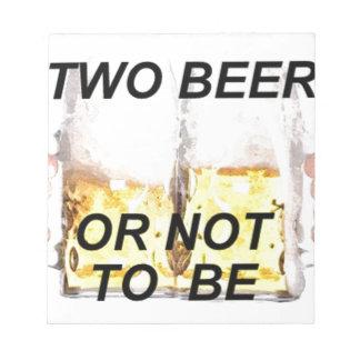 Bier Notizblock