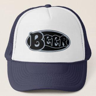 Bier-Oval - Schiefer-Blau Truckerkappe