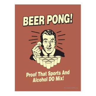 Bier Pong: Beweis-Alkohol u. Sport-Mischung Postkarte