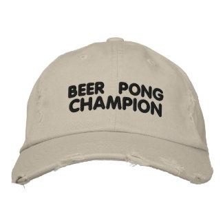 Bier Pong Meister Bestickte Kappe