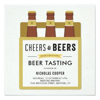 Bier-Probieren-Geburtstags-Party Einladung