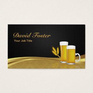 Bier-Schalen-Glasweizen - eleganter schwarzer Visitenkarten