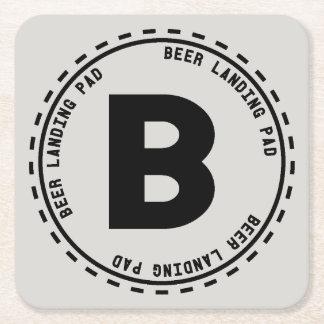 Bier-schmeckende lustige Bier-Landung Rechteckiger Pappuntersetzer
