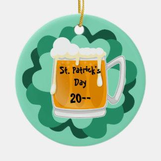 Bier St. Patricks Tagesgedenk Keramik Ornament