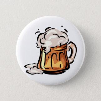 Bier Stein für Octoberfest Runder Button 5,1 Cm