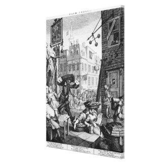 Bier-Straße, 1751 Galerie Falt Leinwand