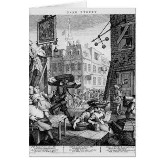 Bier-Straße, 1751 Karte