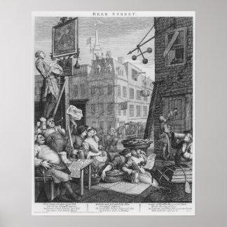 Bier-Straße, 1751 Poster