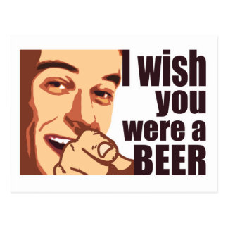 Bier-T - Shirt Postkarte