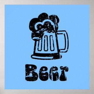 Bier-Tasse - irgendwelche Team-Farben Plakat