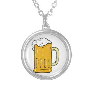 Bier-Tassen-Zeichnen Versilberte Kette