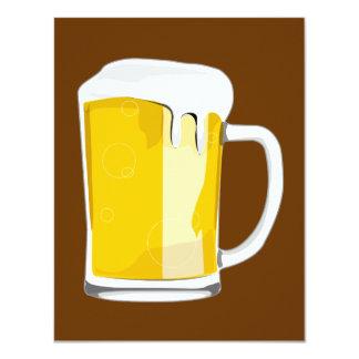 Bier-Tasseneinladung 10,8 X 14 Cm Einladungskarte