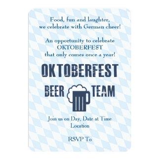 Bier-Team Oktoberfest Party Einladungen