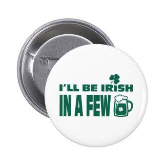 Bier-Thema-Spaß-St Patrick Tagesknöpfe Runder Button 5,1 Cm