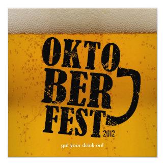 Bier themenorientiertes Oktoberfest 2012 lädt ein Quadratische 13,3 Cm Einladungskarte