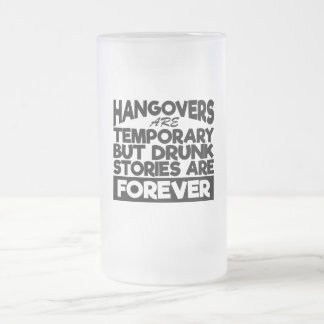 Bier-Trinker-Kater-Geschichten-Glas Mattglas Bierglas