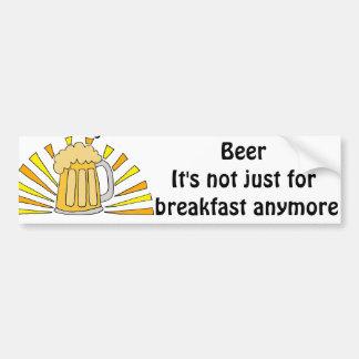 Bier-Trinker-Tasse und Sonnenaufgang Autoaufkleber