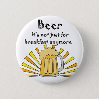Bier-Trinker-Tasse und Sonnenaufgang Runder Button 5,7 Cm