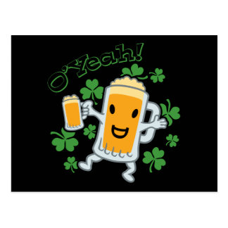 Bier-Typ mit Bier Postkarte