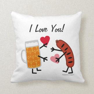 Bier u. Bratwurst - i-Liebe Sie! (kundengerecht) Kissen