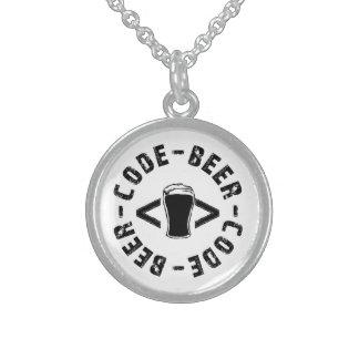 Bier und Code Sterling Silberkette