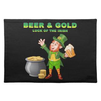 Bier und Gold für das Glück der Iren Tischset