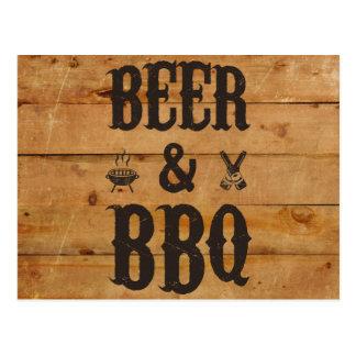 Bier und GRILLEN Postkarte