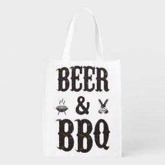 Bier und GRILLEN Wiederverwendbare Einkaufstaschen