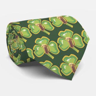 Bier und Kleeblatt Krawatte