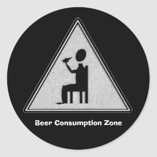 Bier-Verbrauchs-Zone Runder Aufkleber