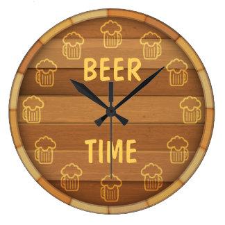 Bier-Zeit Große Wanduhr