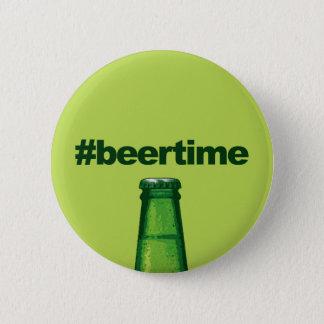 Bier-Zeit Runder Button 5,1 Cm