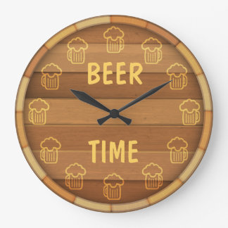 Bier-Zeit Wanduhr