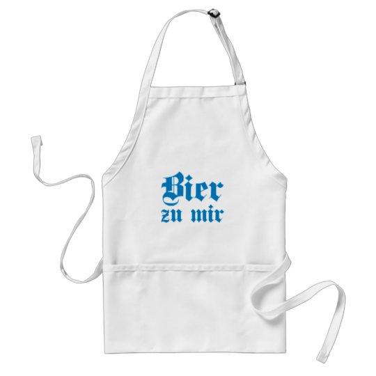 Bier zu mir bayrisch bayerisch Bayern bavarian Schürze