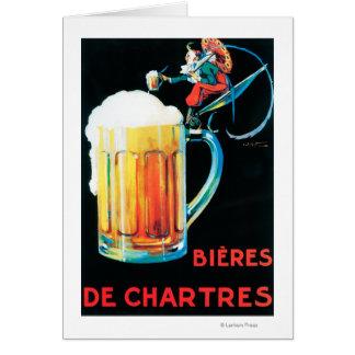Biere fördernden Plakats Chartres Grußkarte