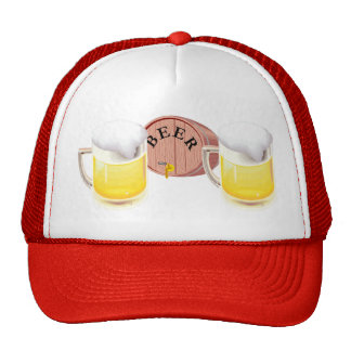 Bierfaß und Bier Stein Baseballcap