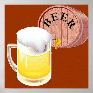 Bierfaß und Bier Stein Plakate