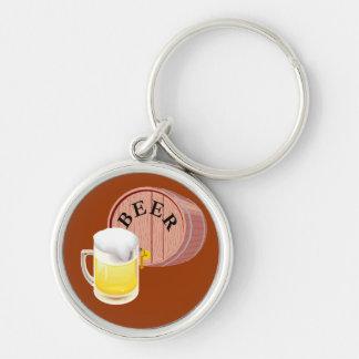 Bierfaß und Bier Stein Schlüsselband