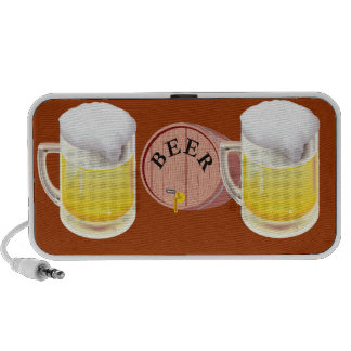 Bierfaß und Bier Stein