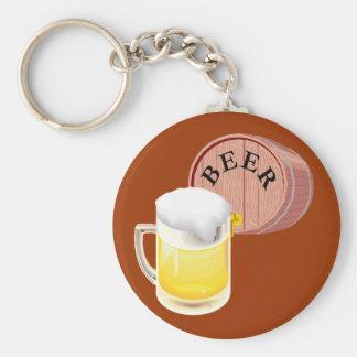 Bierfaß und Bier Stein Standard Runder Schlüsselanhänger