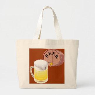 Bierfaß und Bier Stein Leinentaschen