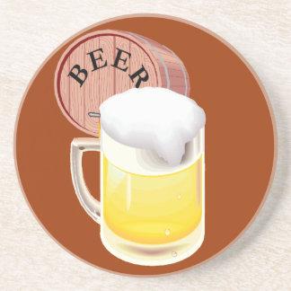Bierfaß und Bier Stein Getränkeuntersetzer