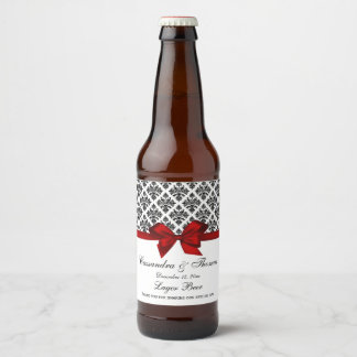 Bierflasche-Aufkleber des Vintagen schwarzen Bierflaschenetikett
