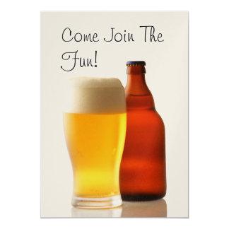 Bierflasche-Junggeselle-Party Einladung
