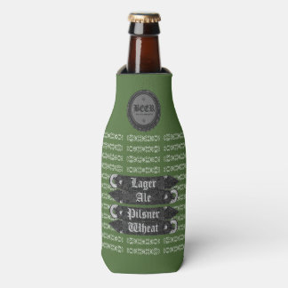 Bierflasche-Kappe/Flaschen-Öffner grün/Grau/Weiß Flaschenkühler