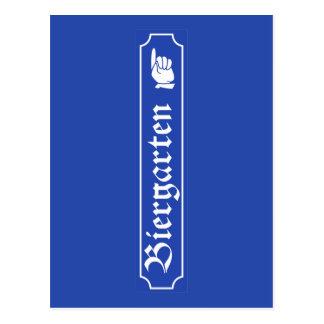 Biergarten Zeichen, Bayern, Deutschland Postkarten