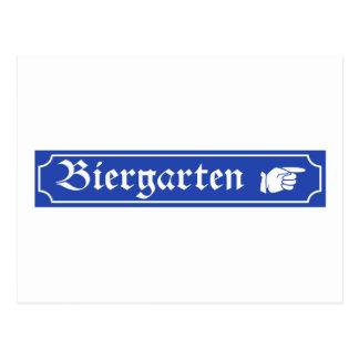 Biergarten Zeichen, Bayern, Deutschland Postkarte